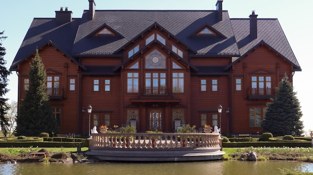 ウクライナの前大統領の豪華な邸宅