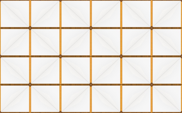 Luxurious seamless golden square grid background.