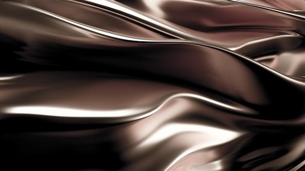 サテンのカーテンと豪華な銀色の背景。 3dレンダリング。