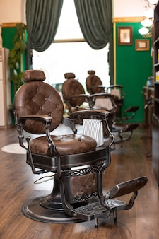 Luxury armchairs in barber shop