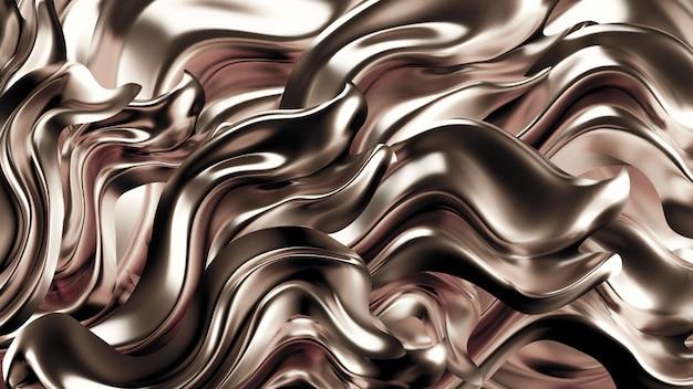 Роскошный фон с золотой драпировкой ткани. 3d иллюстрация