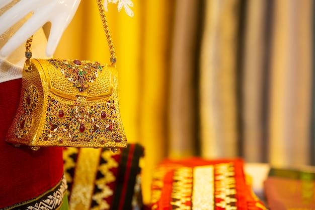 Luxury bag from thai silk exhibition.