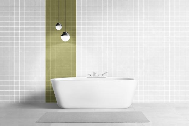 Роскошная ванная в аутентичном дизайне интерьера