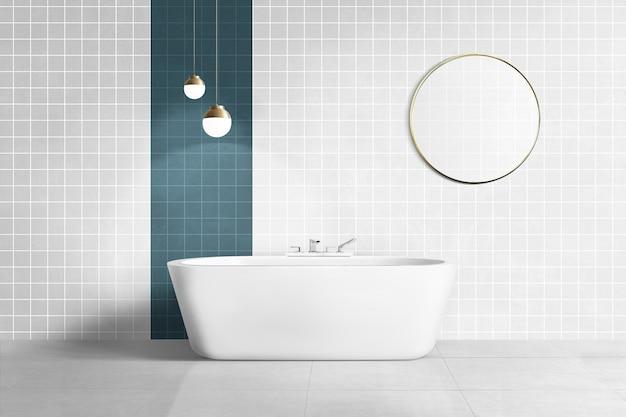 Роскошная ванная комната с аутентичным дизайном интерьера