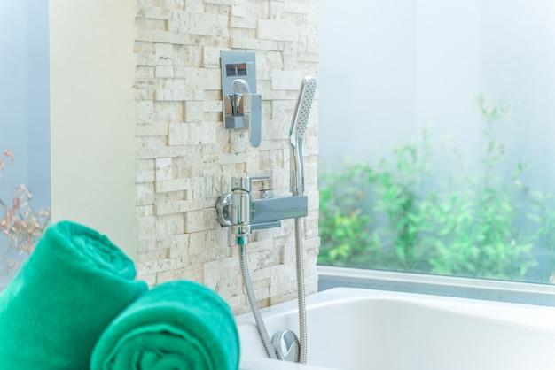 Luxury bathroom features  bathtub