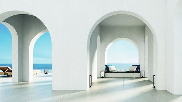 豪華なビーチとプールヴィラ サントリーニ島スタイル
