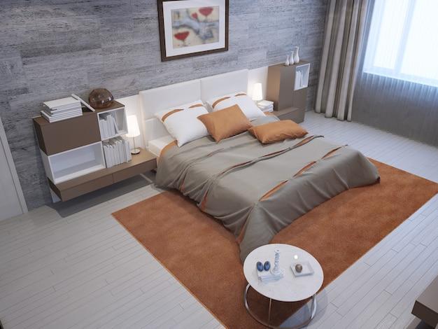 개인 주택의 고급 침실