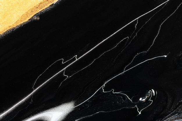 Arte sperimentale fatta a mano di sfondo nero di lusso