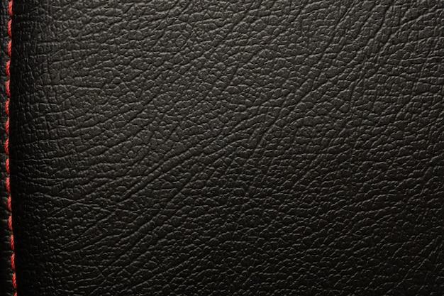 Роскошная черная кожаная текстура поверхности фона