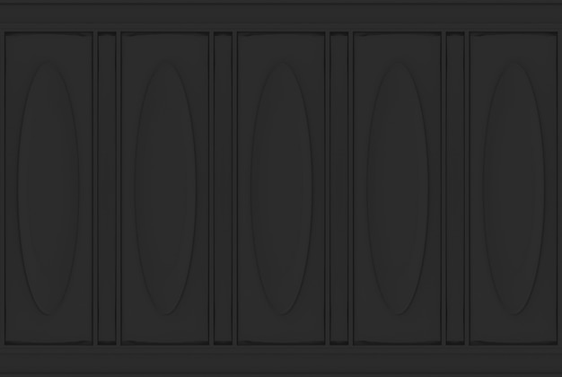 Luxury black oval classical pattern wood wall background