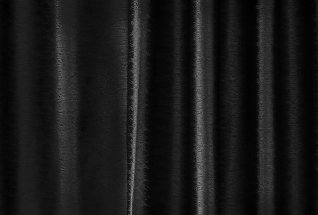 Luxury black silk curtain texture for background and design art work.