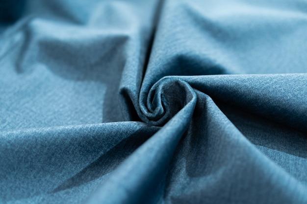 Luxury blue fabric sample close-up