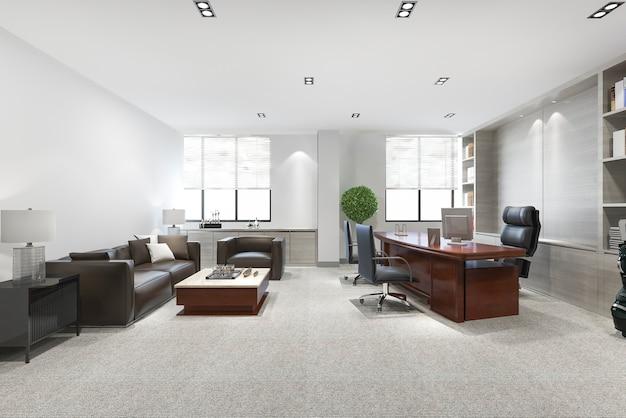 Роскошная деловая встреча и рабочая комната в исполнительном офисе
