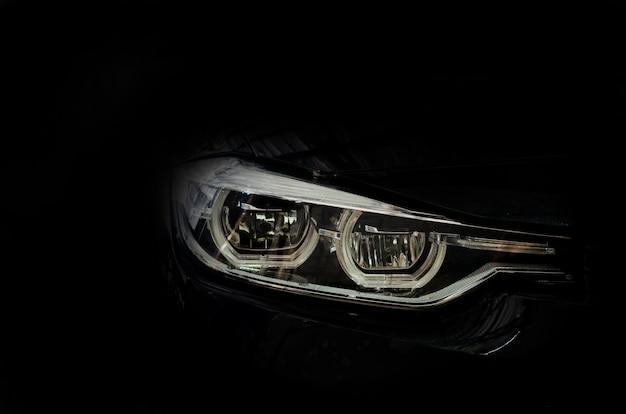 Luxury car headlight details