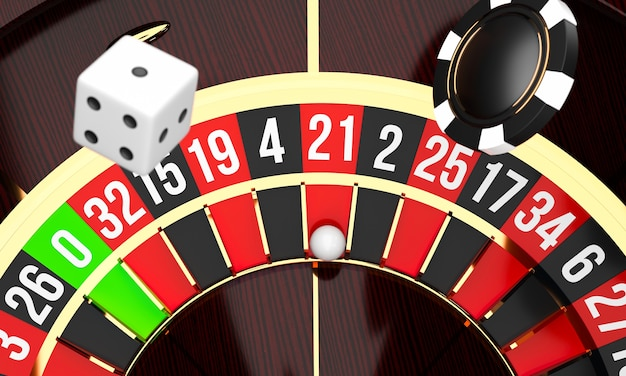 Luxury casino roulette wheel