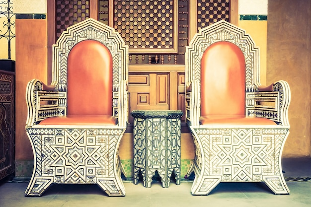 Luxury chair with morocco style