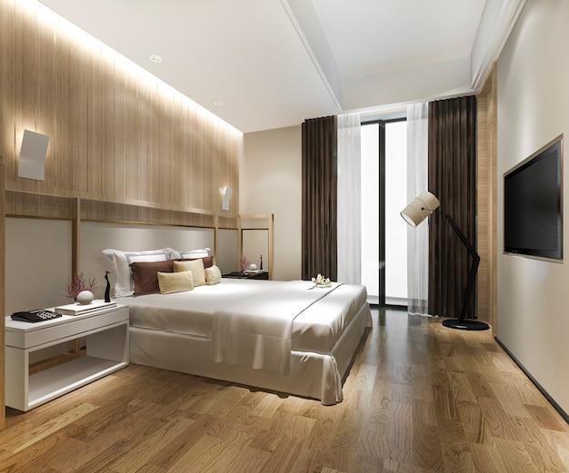 ホテルの豪華なクラシックモダンなベッドルームスイート