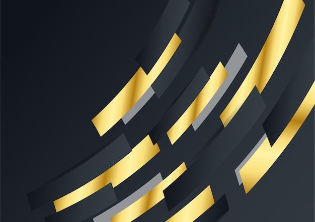 럭셔리 기업 배경, 추상 장식, 황금 패턴, 하프톤 그라디언트, 3d 벡터 일러스트 레이 션. 블랙 골드 표지 템플릿, 기하학적 모양, 현대 최소한의 비즈니스 배너