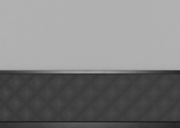 복사 공간 회색 시멘트 벽 배경으로 럭셔리 어두운 사각형 패턴 프리미엄 사진