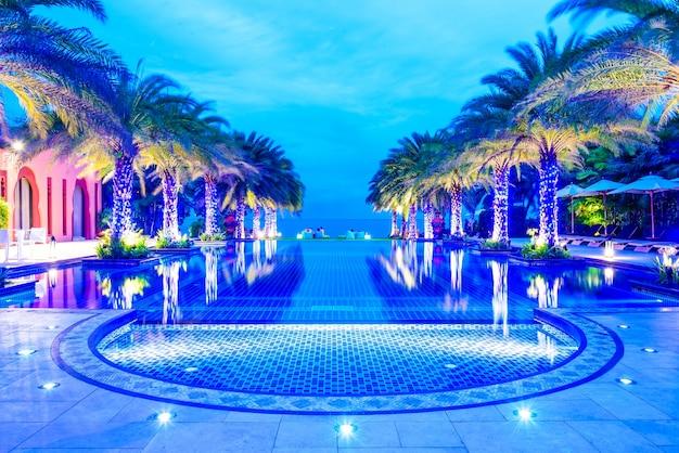 Luxury dawn swimming destinations sunset
