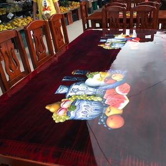 Luxury dining table in a restaurant, arcos de san miguel, san miguel de allende, guanajuato, mexico