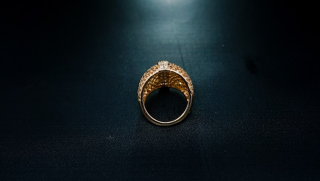 Luxury and elegant gold party ring
