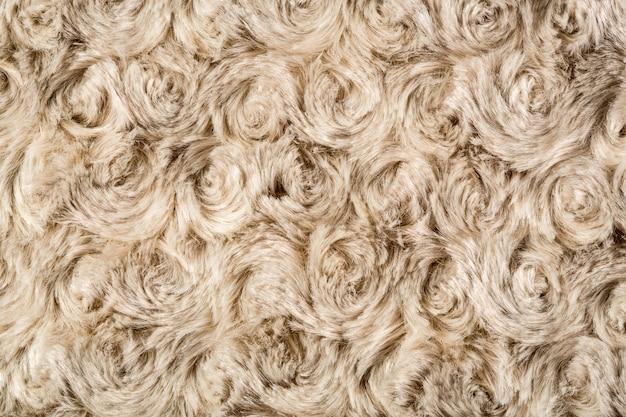 Luxury fur texture, rose shaped