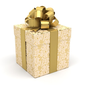 Luxury gift box with gold bow