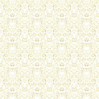 Роскошный золотой королевский бесшовный узор на белом фоне.