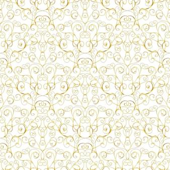 Роскошный золотой королевский бесшовный узор на белом фоне