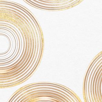 白い円パターンの抽象的なアートの豪華な金のテクスチャ背景