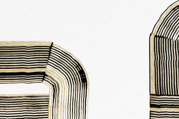 Fondo strutturato oro di lusso in arte astratta bianca