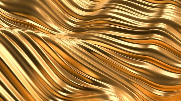 豪華な金色の背景。 3dレンダリング。