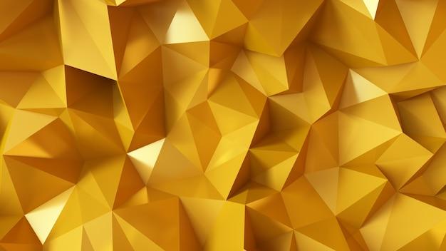 삼각형과 크리스탈 럭셔리 황금 배경. 3d 그림, 3d 렌더링입니다.