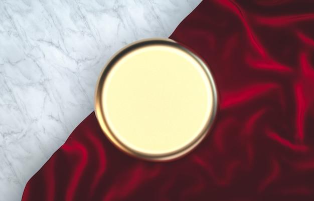 クリスマスのコンセプトを持つ豪華な金色のシリンダーボックス