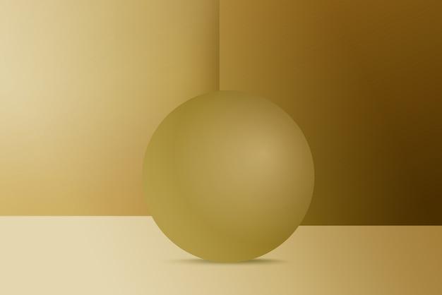 Luxury golden round podium on golden background