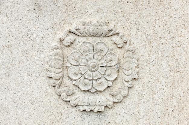 고급 석고 장식 요소, 벽 개념 치장 벽토, 인테리어 건축 패턴.