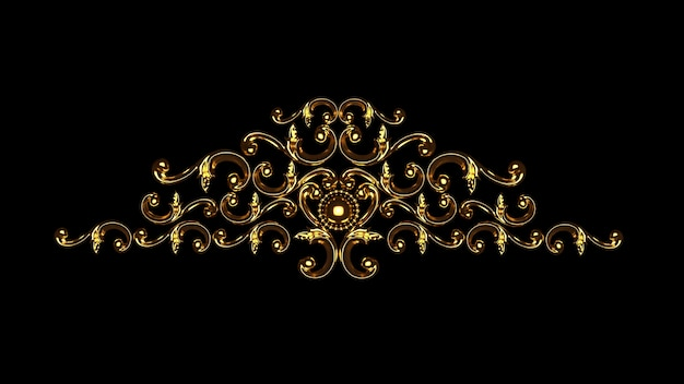 Luxury gypsum decoration element, wall concept stucco, interior architecture pattern.