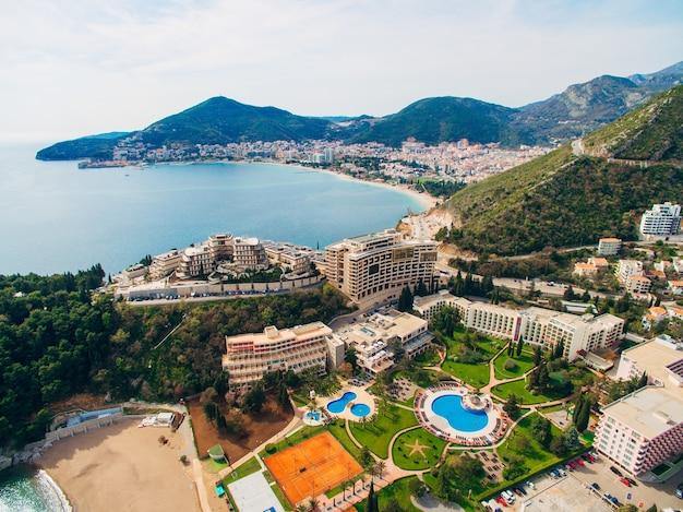 Роскошный гостиничный комплекс дуклей в будве черногория съемки с