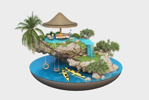 작은 섬의 럭셔리 호텔, 여름 휴가