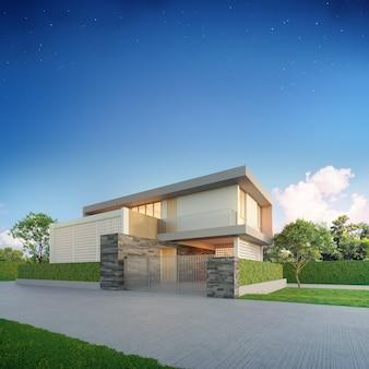 Роскошный дом в современном дизайне