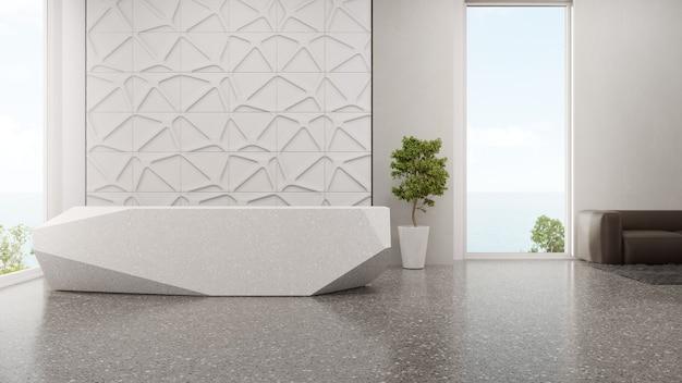 テラゾ床のモダンなショールームの豪華なインテリアデザイン