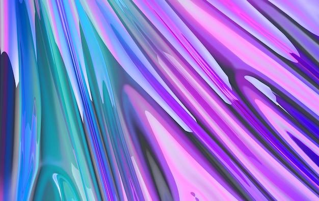 Luxury iridescent satin silk fabric in motion