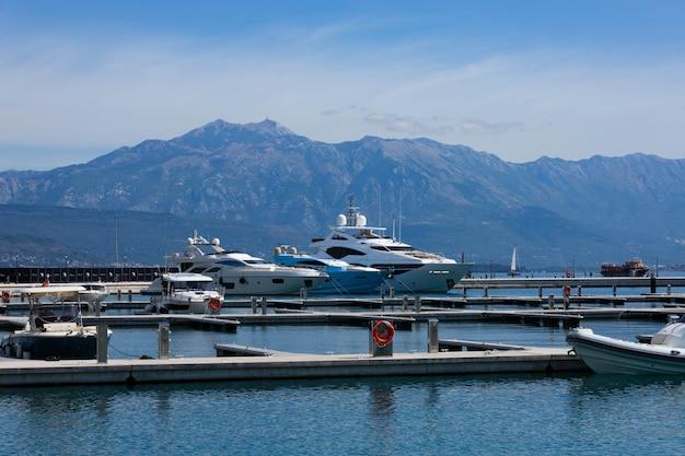 Luxury mega yacht elysium docks in the marina.