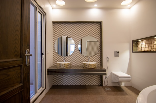 Luxury and modern design bathroom