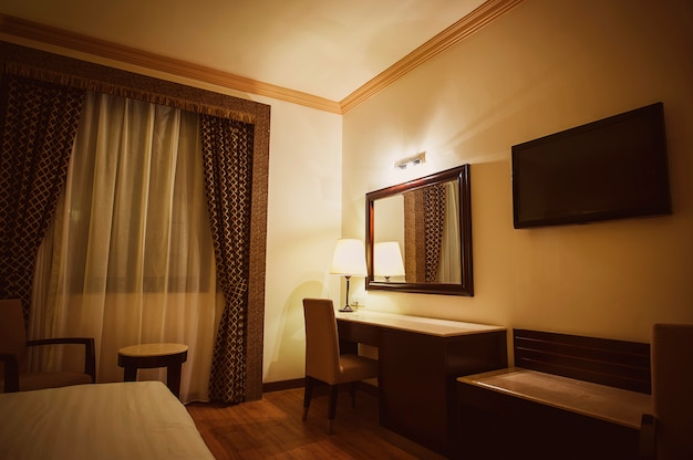 Luxury modern hotel bedroom