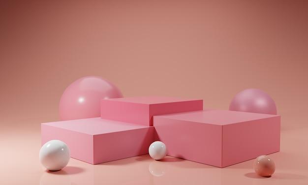 Роскошный розовый подиум с розовым шаром