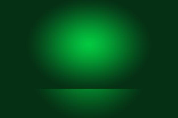 Роскошный простой зеленый градиент абстрактный фон студии пустая комната с пространством для вашего текста и изображения. Бесплатные Фотографии