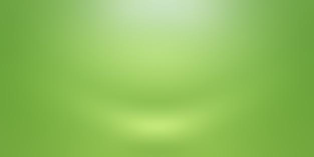텍스트 및 그림을 위한 공간이 있는 고급 일반 녹색 그라데이션 추상 스튜디오 배경 빈 방