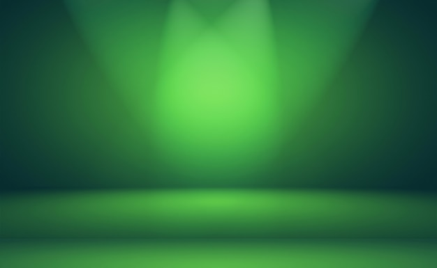 고급 일반 녹색 그라데이션 추상 스튜디오 배경에는 텍스트와 그림을 위한 공간이 있는 빈 공간이 있습니다.